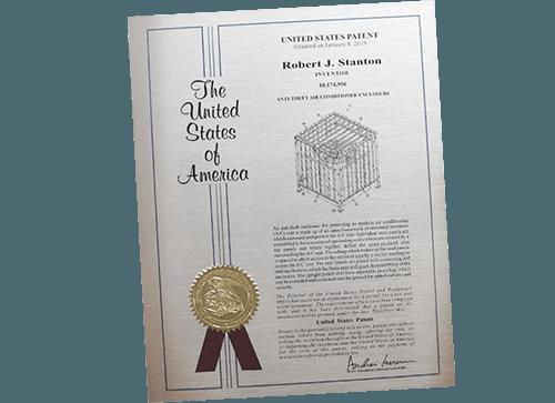 our patent for air conditioner unit enclosure