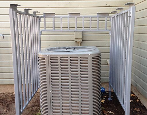 residential locking air conditioner enclosure