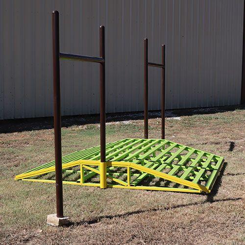 ATV Bridge shown with fence H-braces