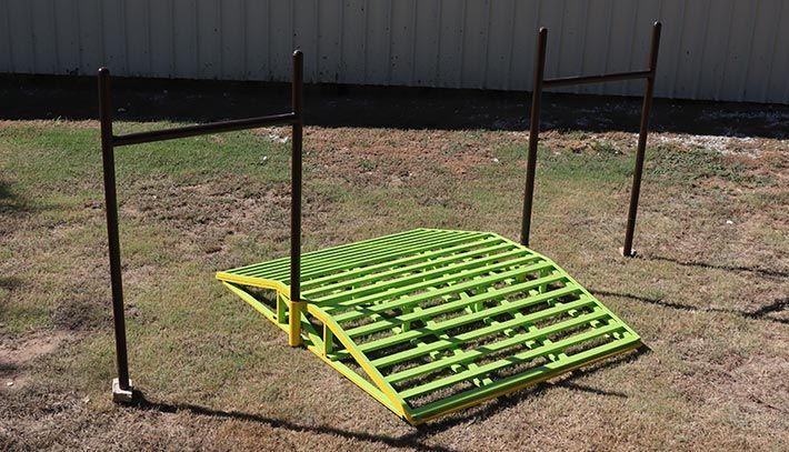 ATV Bridge shown with fence braces