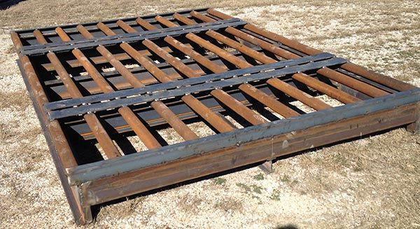 cattle guard with custom flat drive path