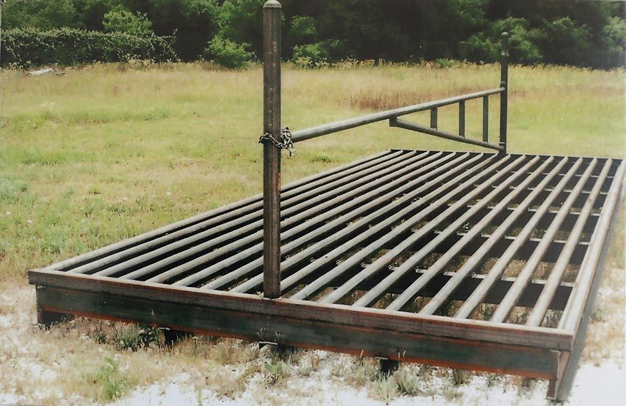 cattle guard with swing gate