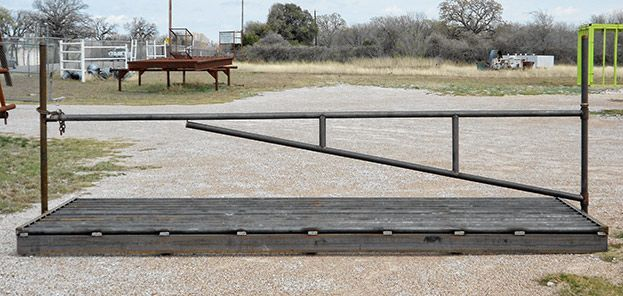 Heavy duty cattle guard with endposts and swing gate